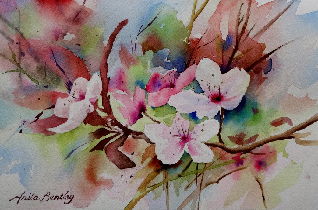Japanese Garden Cherry Blossom Paintings Image Gallery Of