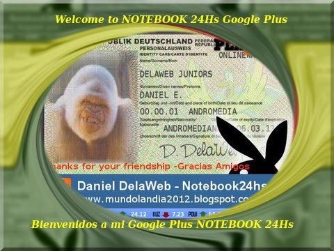 Daniel de MUNDOLANDIA 24HS te espera en GOOGLE PLUS