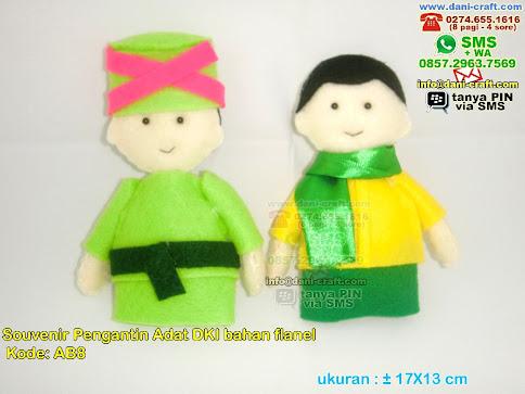 Boneka Pengantin Adat Betawi Jakarta