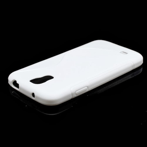 S-Curve Soft TPU Jelly Case for Samsung Galaxy S 4 IV i9500 i9502 i9505 - White