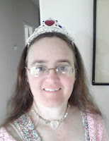 Cynthia Parkhill in a plastic tiara