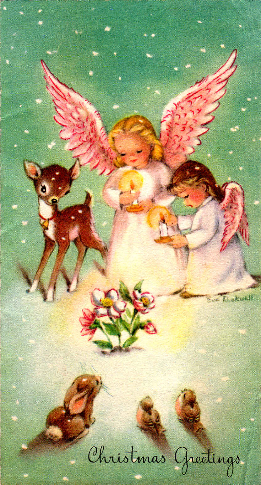 Clearly vintage saturday image bonus 264 for Christmas angels