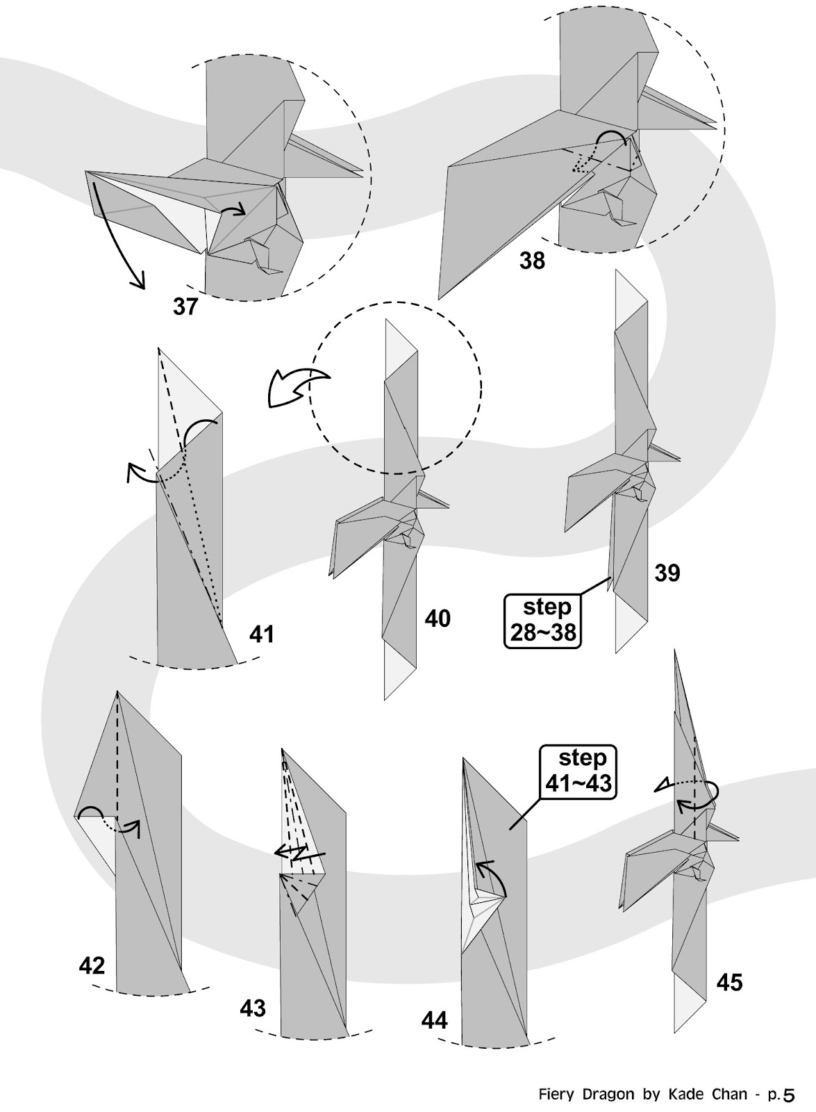 Kade Chan Origami Blog Fiery Dragon Instructions Videos Diagrams