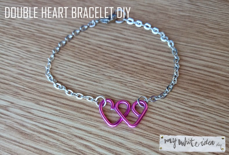 DOUBLE HEART BRACELET DIY