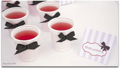 Simple jelly display idea for a party table from BistrotChic