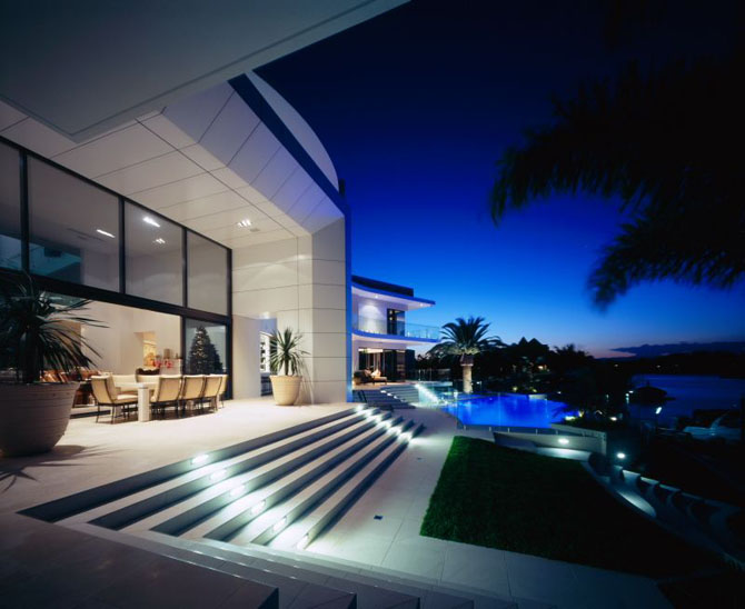 luxury houses villas and hotels modern white house design in