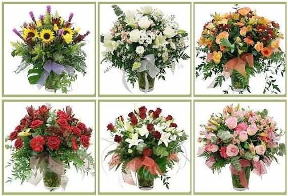Çiçek Aranjman vazo çiçekler karışık hediyelik