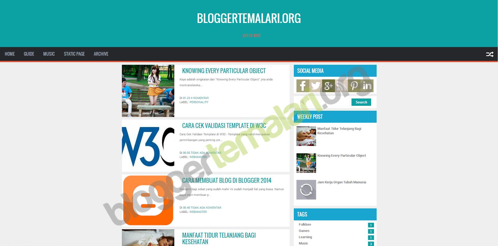ZikazevFlat Profesyonel Blogger Teması