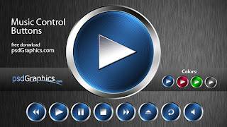 Photoshopta Music Player İconları