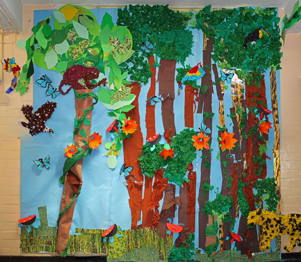 Hacton News Rainforest Scene By Year 3 And 4
