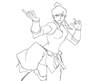 #7 Korra Coloring Page