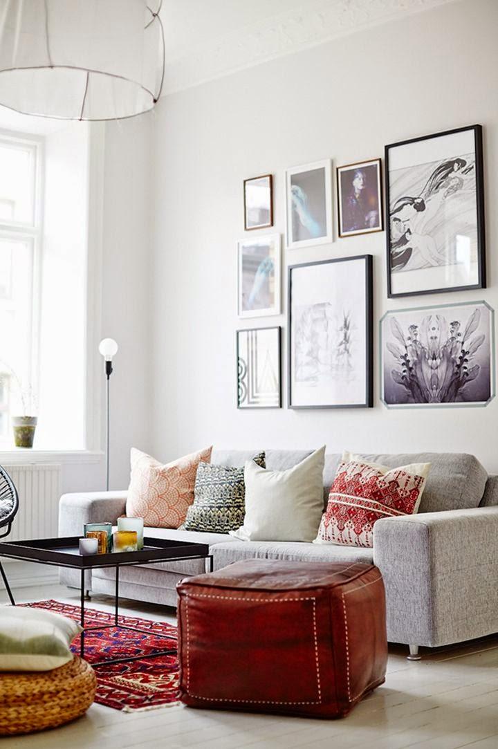 sofa gris minimalista