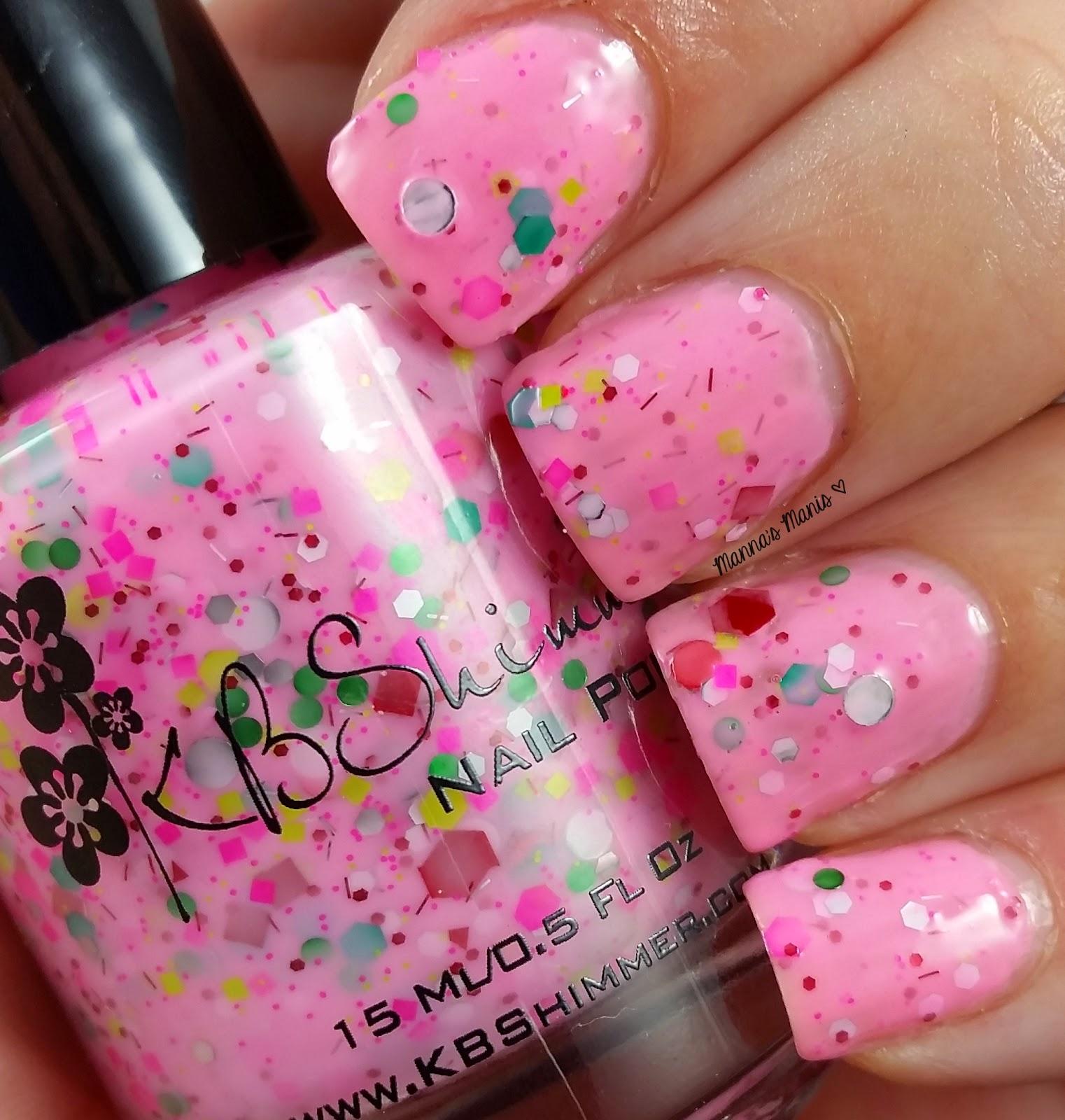 kbshimmer merry pinkmas, a bubblegum pink nail polish