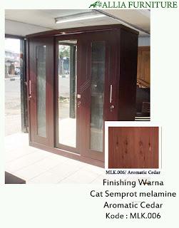 Contoh Furniture Semprot Melamine Aromatic Cedar