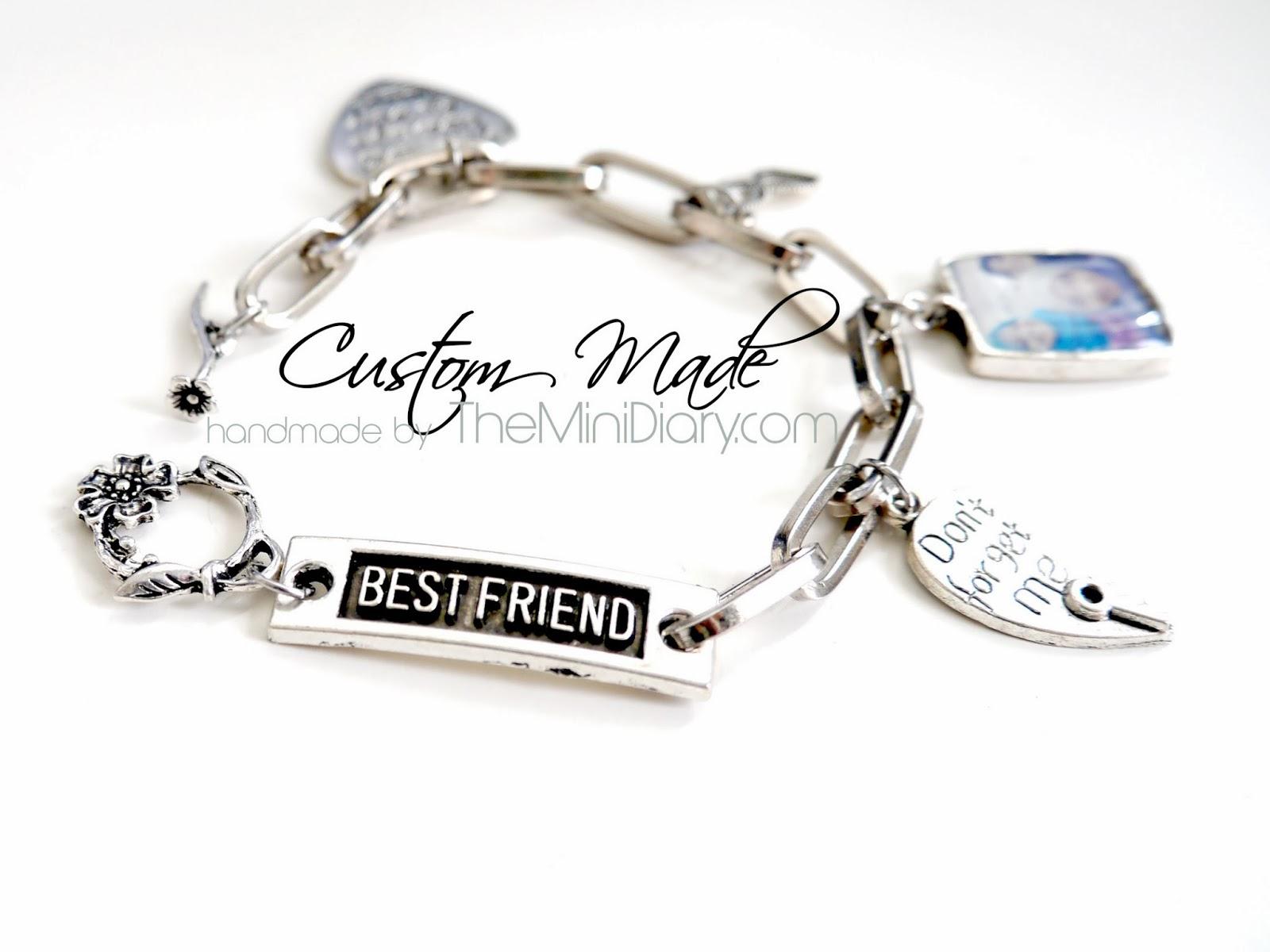 Custom Made Best Friend Charm Bracelet