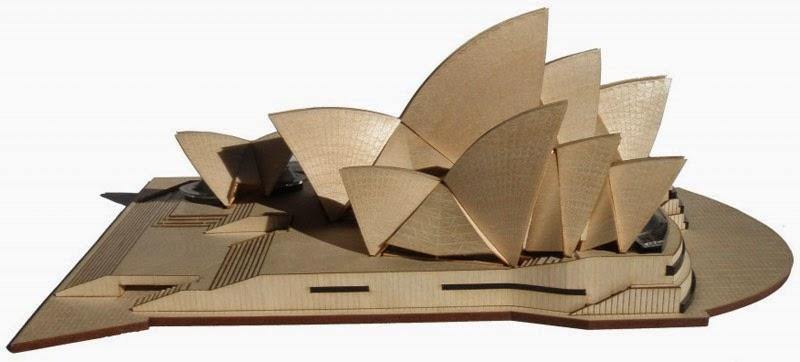 Build sydney opera house model