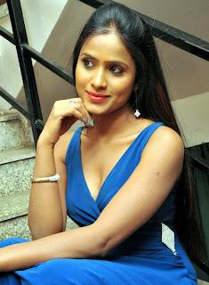 Telugu Anchor Prashanthi In Blude dress Stills 14