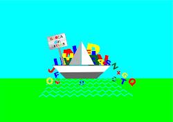 A logo da Barca das Letras