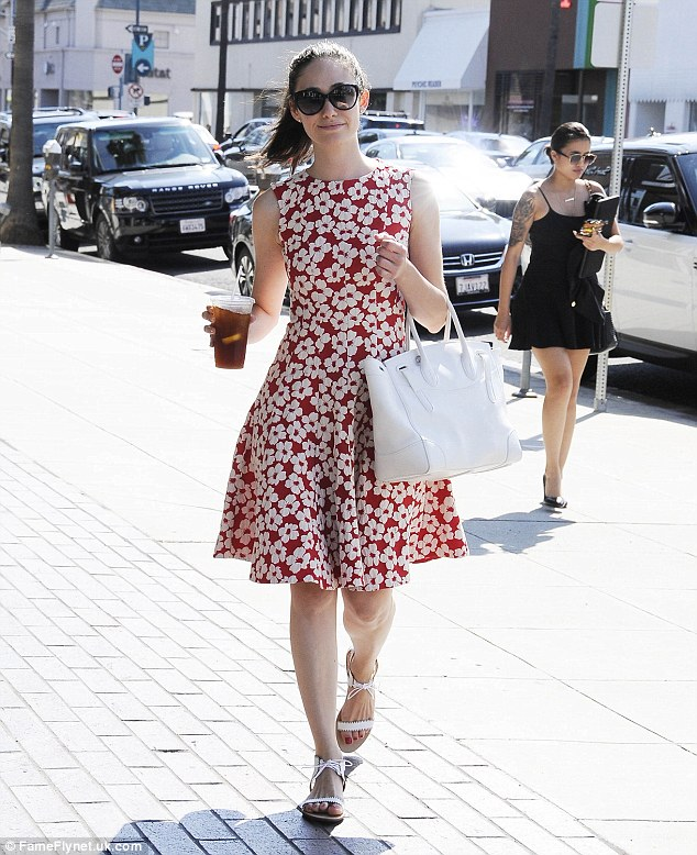 Emmy Rossum Spotted Again in IVI Sunglasses
