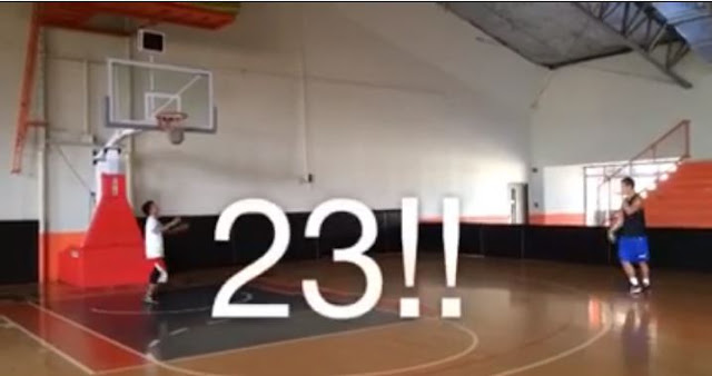 Gilas Cadet Garvo Lanete shoots 23 straight three pointers