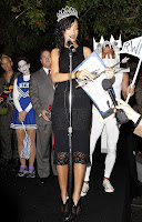 Rihanna giving a speach at the West Hollywood Halloween Carnival 2012
