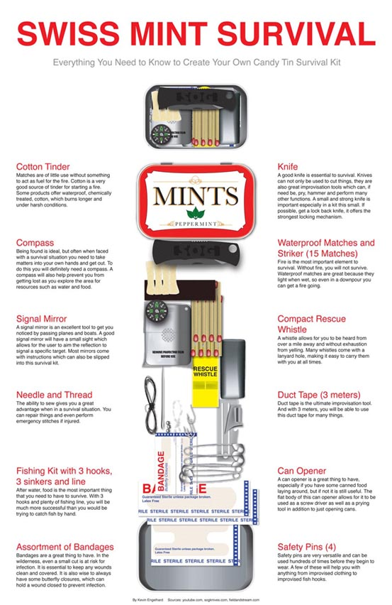 DIY Swiss Mint Survival Kit List | Handy & Homemade