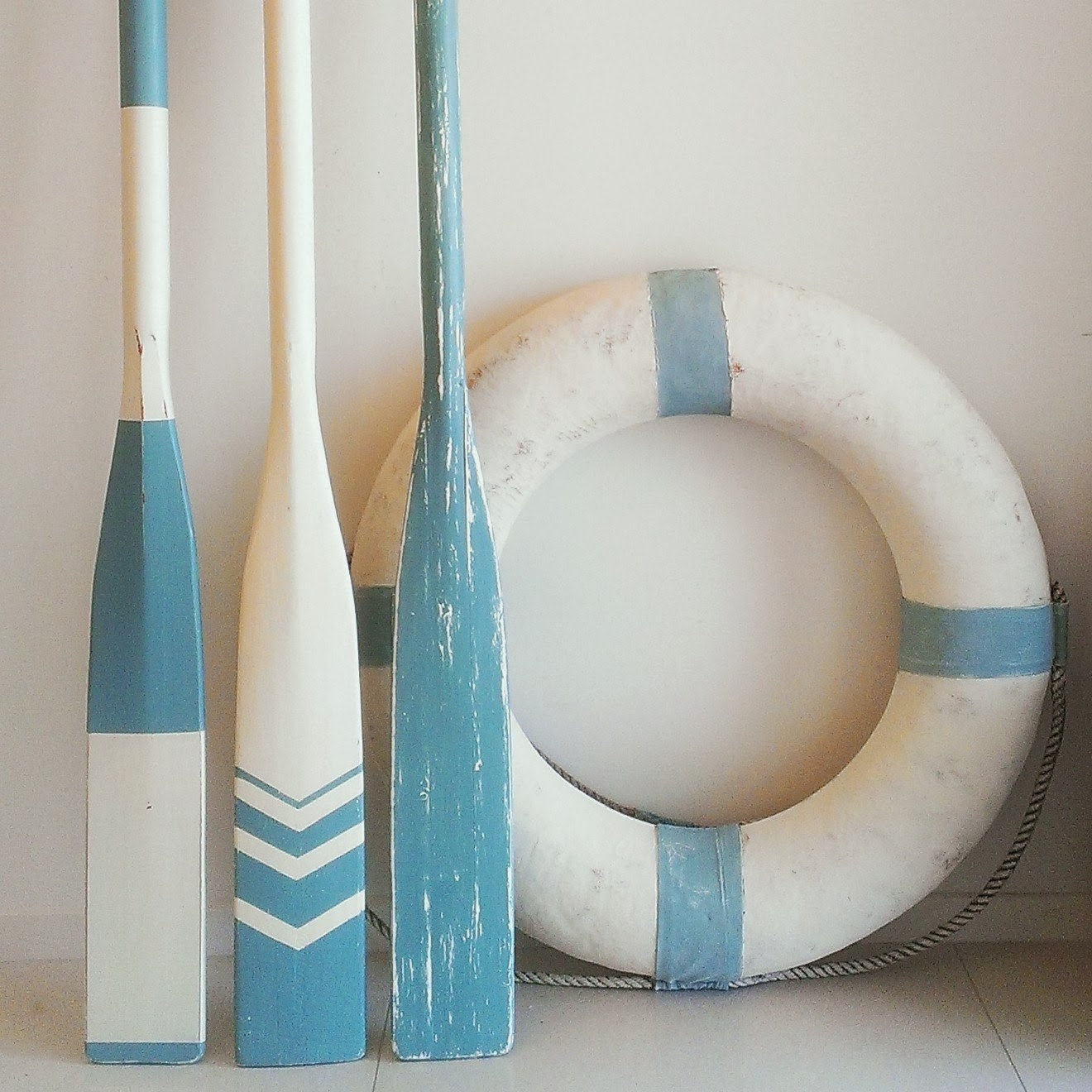 Nautical Wall Decor Oars: Sea Blue Paddles & Oars
