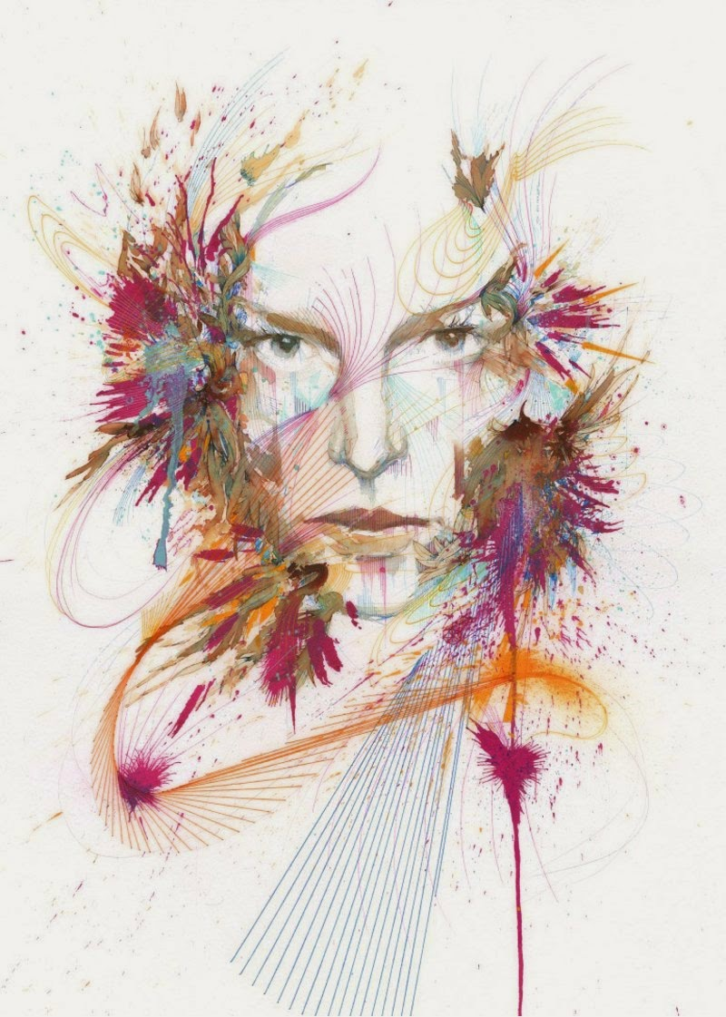 Summon by Carne Griffiths using Derwent Graphik Line Painters