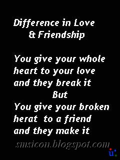 friendship vs love quotes