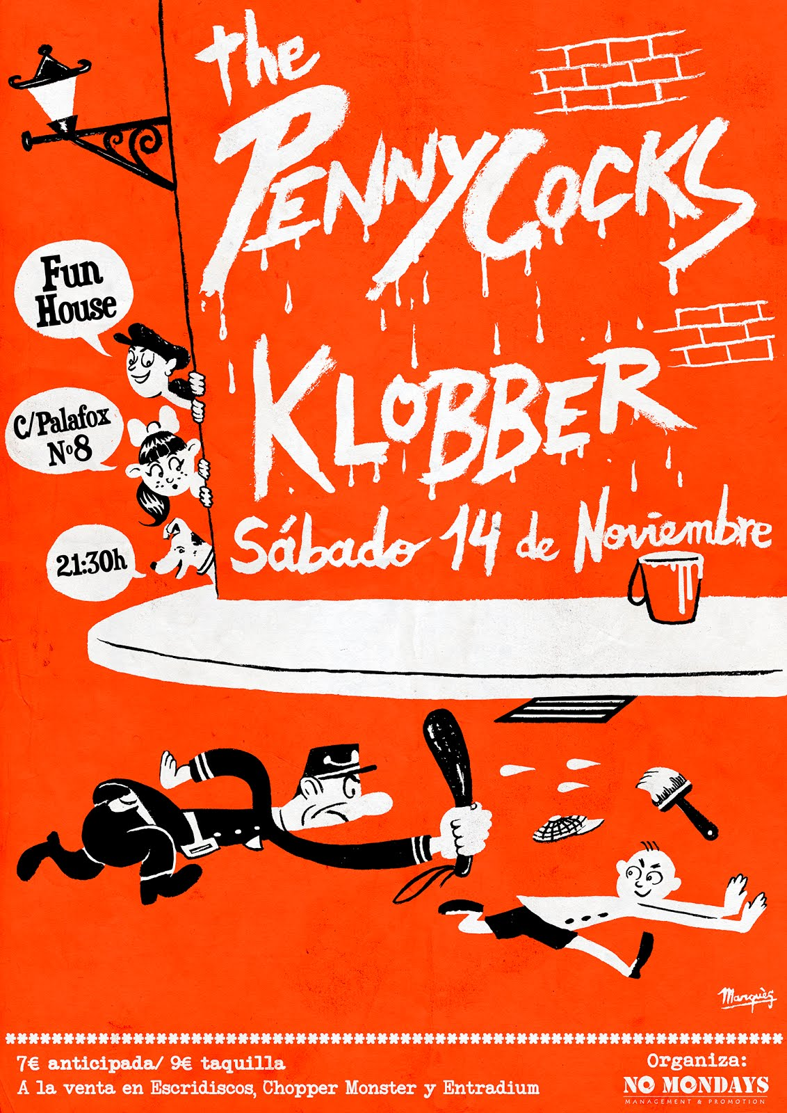 The PennyCocks + Klobber - 14 Noviembre - Fun House