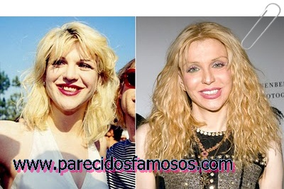 Courtney Love antes y después