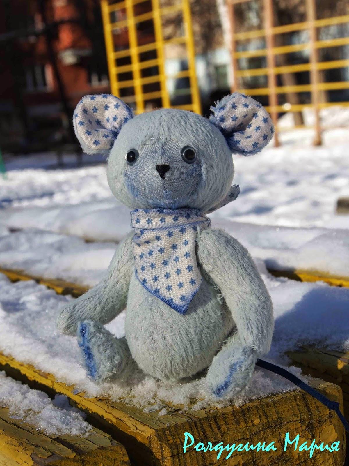 Мышка игрушка ручная