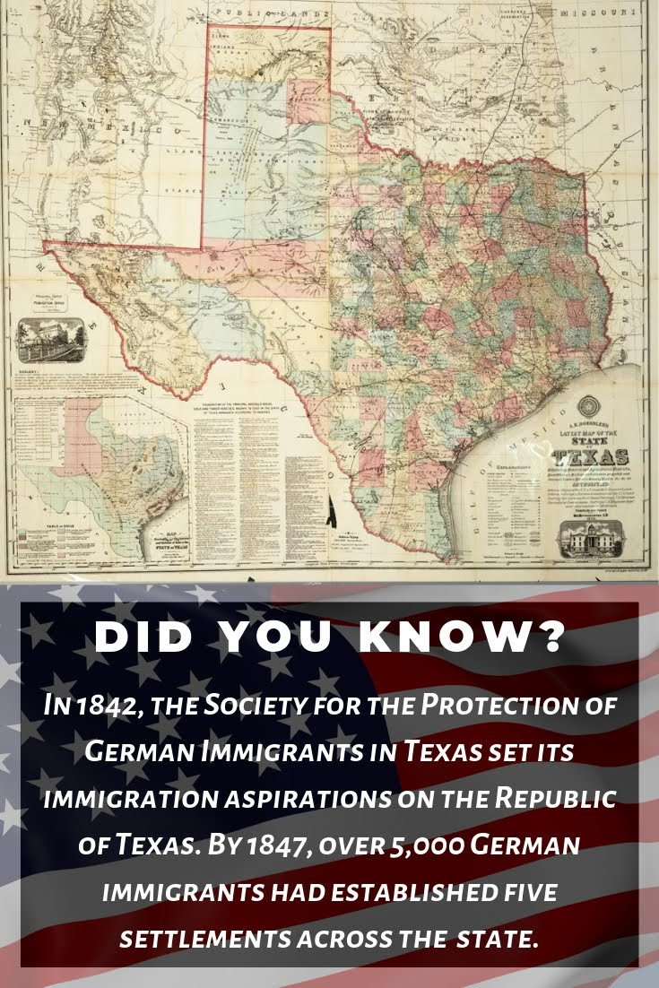 In 1842, the Society for the Protection of German Immigrants ...