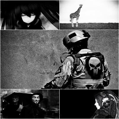 Siyah beyaz tema