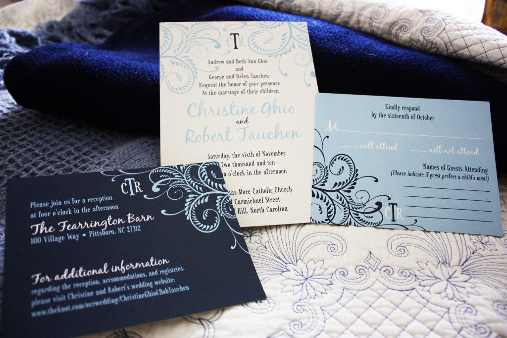 blue wedding invitations With carolina blue wedding invitations