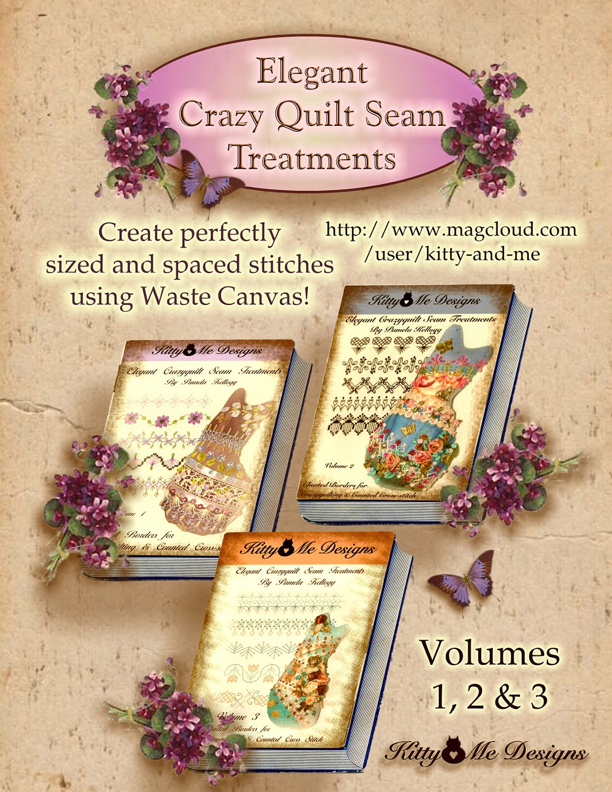 Elegant Crazy Quilt Seam Treatments