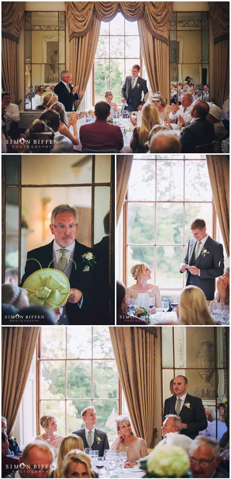 Wedding speeches at Ston Easton