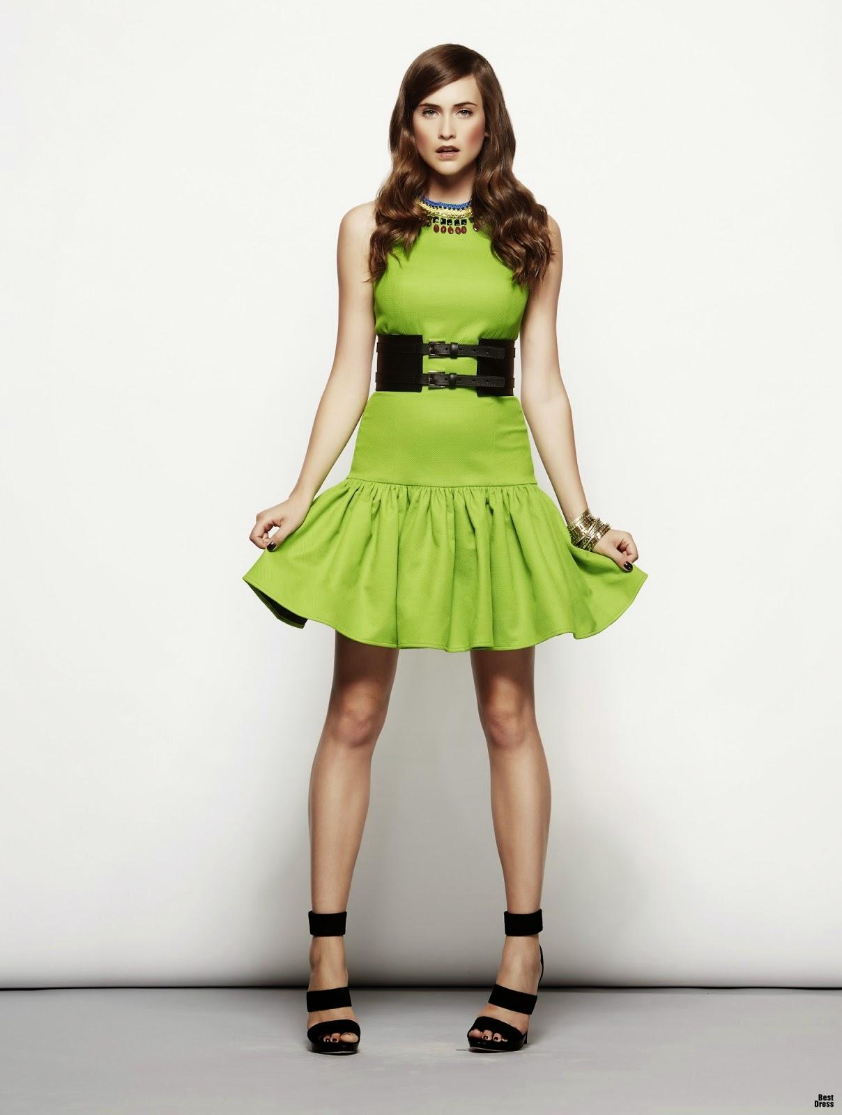 Vestidos con colores de temporada 2015 | Moda en Vestidos