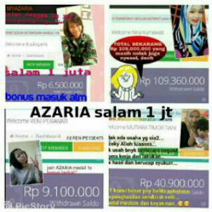 MY AZARIA BEAUTY SHOP BONUS 1JUTA/MEMBER