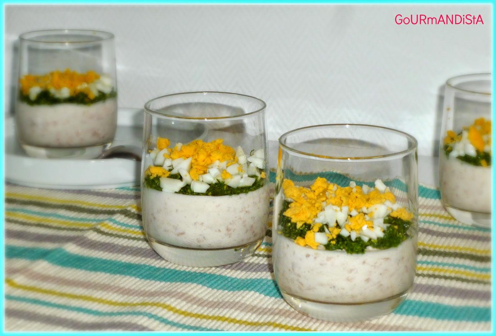 image-Mousse de jambon blanc, pesto d'épinard et œuf dur