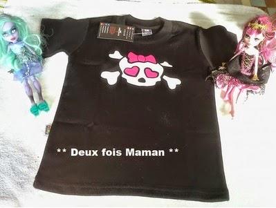 T-shirt tête de mort enfant