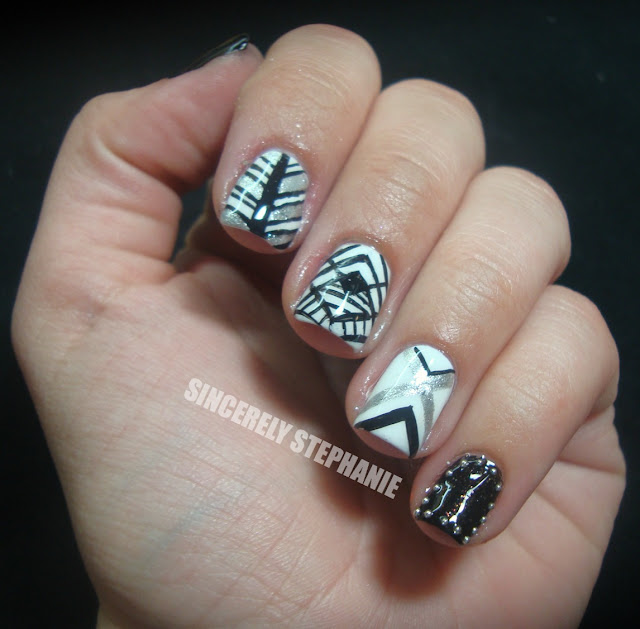 black-white-freehand-nail-art