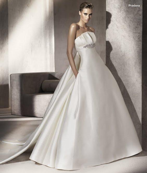 todo sobre bodas: vestido de novia pradera pronovias 2012 manuel mota