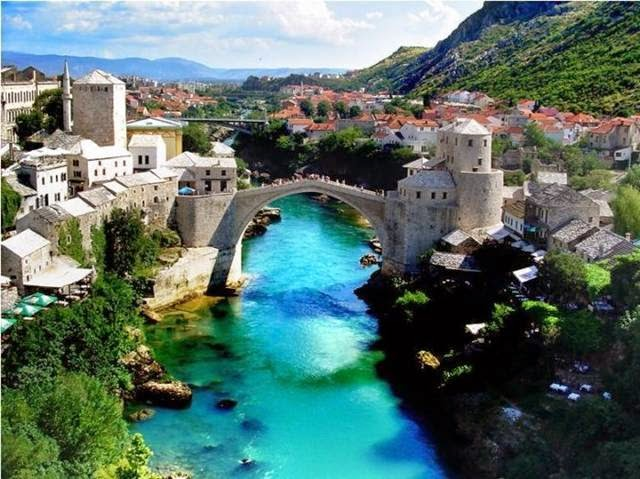"The Stari Most (""Old Bridge"" in English), is actually a reconstruction. The original was a 16th-century Ottoman bridge. After standing for mover 400 years, it was sadly destroyed in 1993 during the Croat-Bosniak War. The reconstructed bridge was completed in 2004."