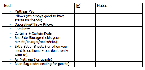 How To Pack for College Printable Packing Lists Sarah Smile