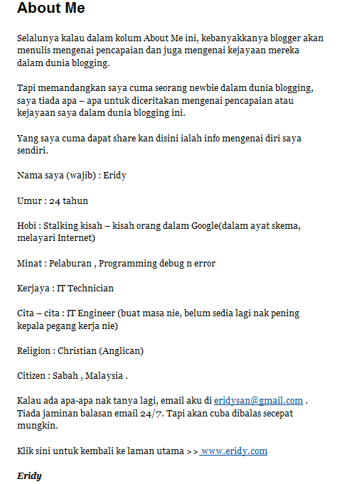 blog eridy, blogger baru, anjur contest SEO.