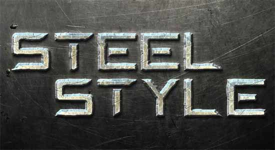 photoshop-text-effects-tutorials-Steel-Text-Effect-in-Photoshop