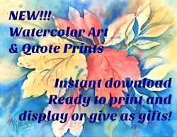 New Watercolor Printables