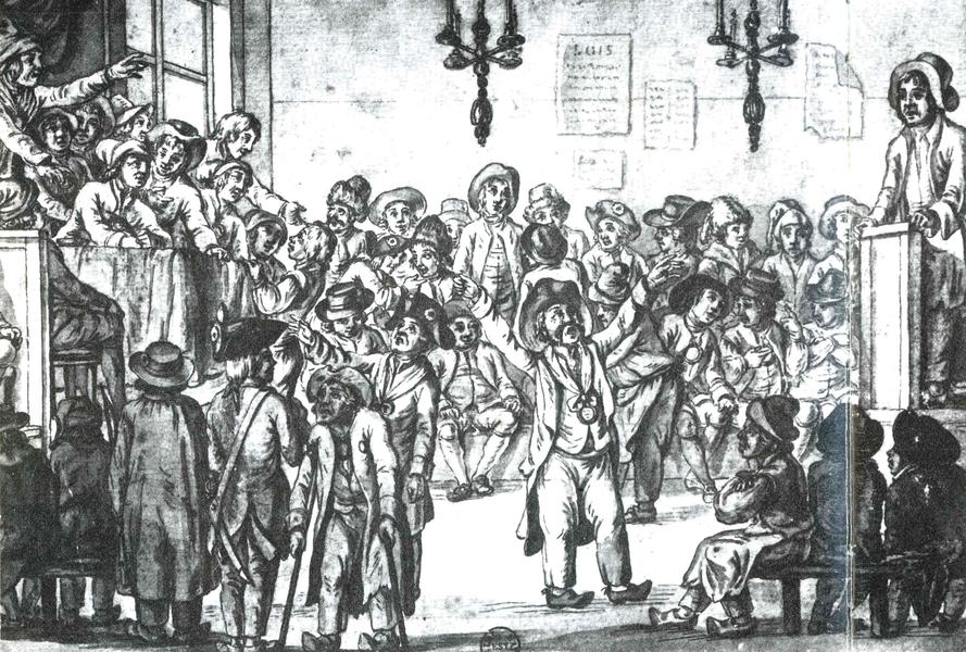 Scène pittoresque reflétant assez bien l'ambiance d'une réunion en 1789