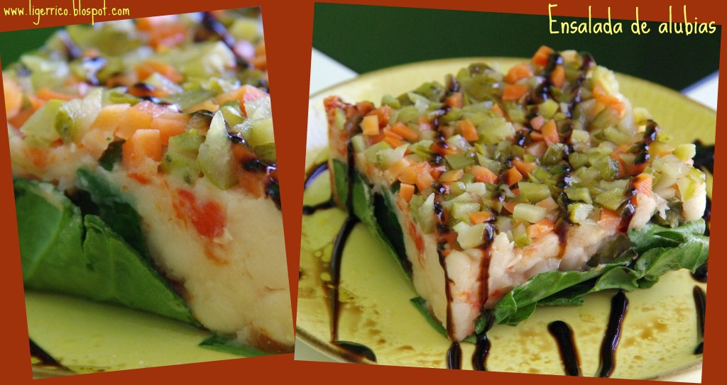 Ligero y rico ensalada de alubias - Ensalada de alubias ...